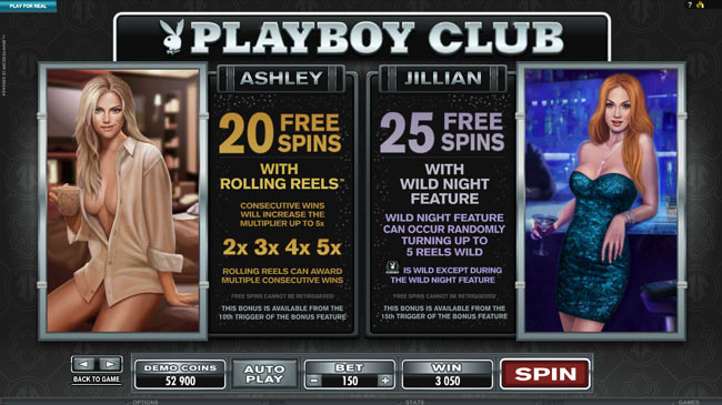 Free Spins Playboy Video slot